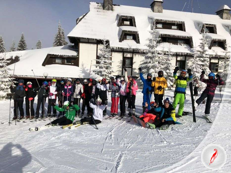 Skiing school
