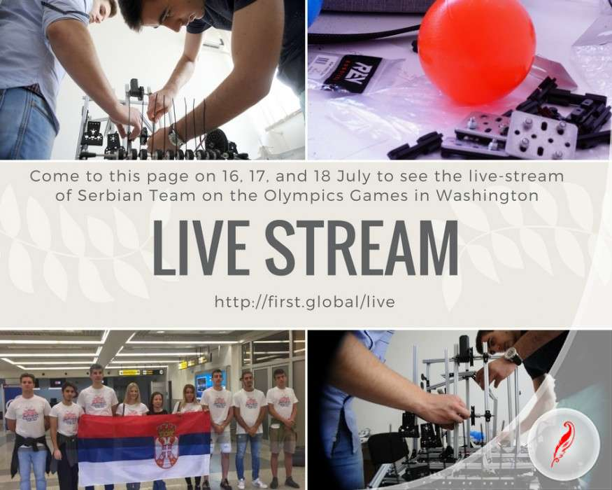 Live Stream from Olympic Games in Robotics in Washington DC
